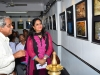 Chief Guest, Mrs. Manjistha Mukherjee Bhatt. takes a tour of the Gallery along with  Salon Chairman Shri Sham Manchekar,