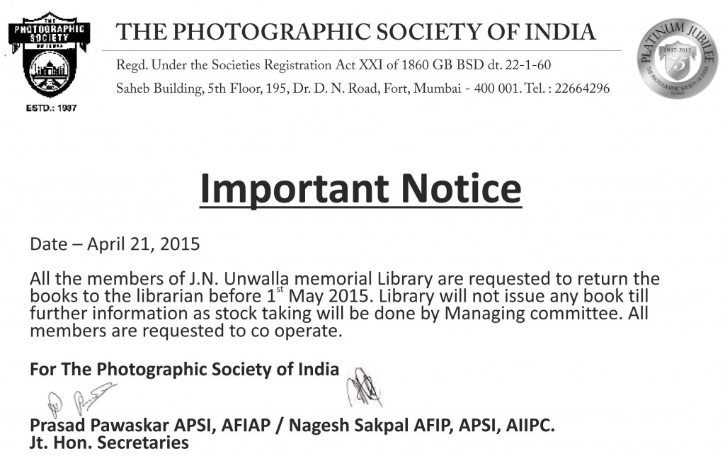 Library Notice